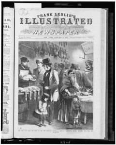 New York City:  Two Christmases, Rich and Poor (1873) Image Source:  Library of Congress, LC-USZ62-121662