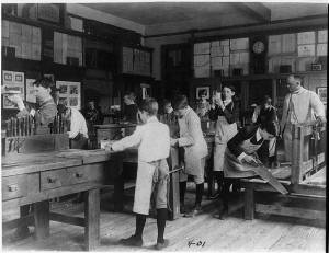 Woodworking Class, Washington, D.C. - 1899 Image Source:  Library of Congress, LC-USZ62-24314